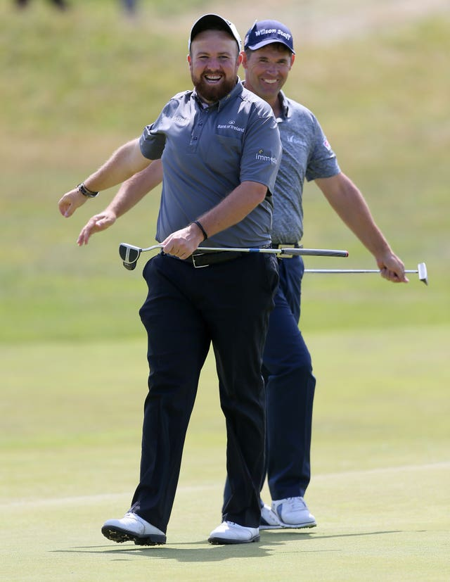 Lowry has emulated his friend Padraig Harrington by winning the Open title