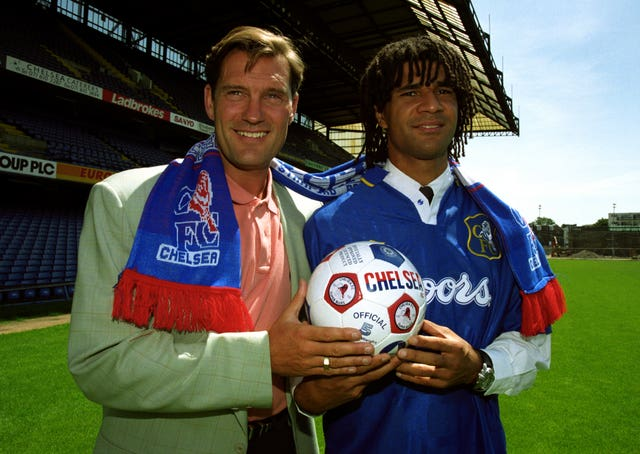 Glenn Hoddle, left, took charge at Chelsea in 1993