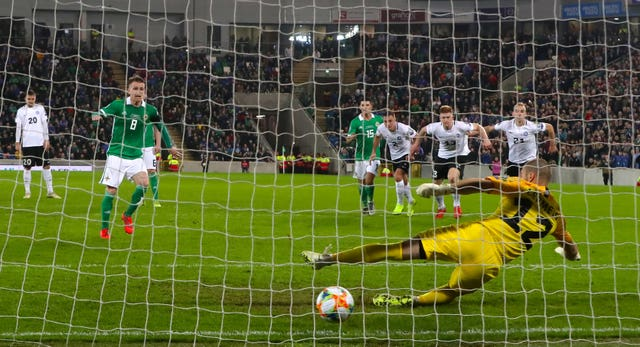 Steven Davis scored Northern Ireland's second goal from the spot