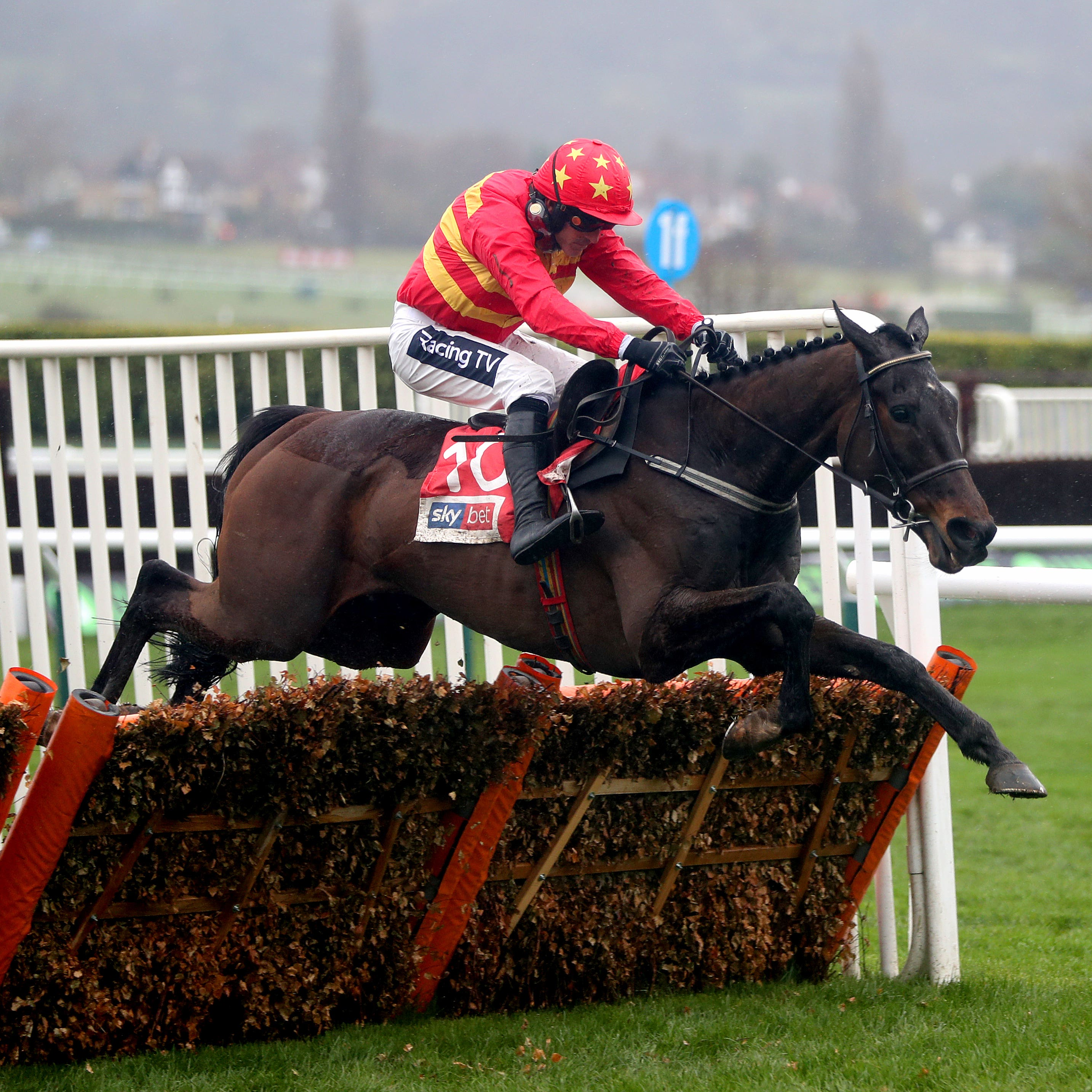 Klassical Dream and Ruby Walsh on their way to victory in the Supreme Novices' Hurdle