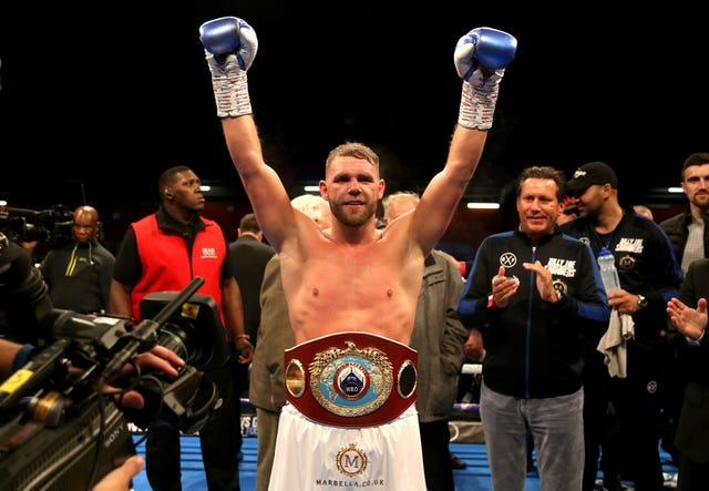 Billy Joe Saunders is an unbeaten two-weight world champion (Paul Harding/PA)