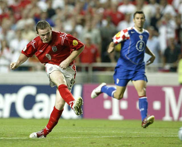Wayne Rooney was in scintillating form against Croatian at Euro 2004