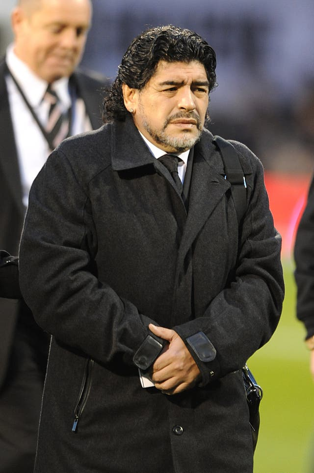 Diego Maradona was admitted to hospital on Monday.