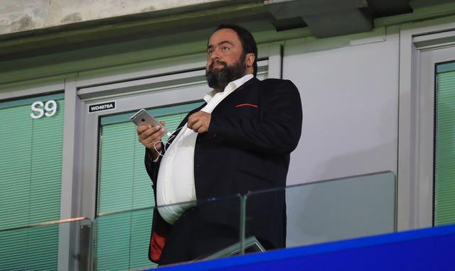Nottingham Forest owner Evangelos Marinakis has tested positive for the virus