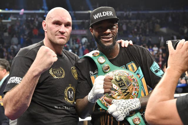 Fury and Wilder showed different emotions after the draw