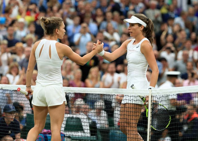 Konta's quarter-final against Simona Halep attracted the biggest BBC TV audience for any match at Wimbledon last year