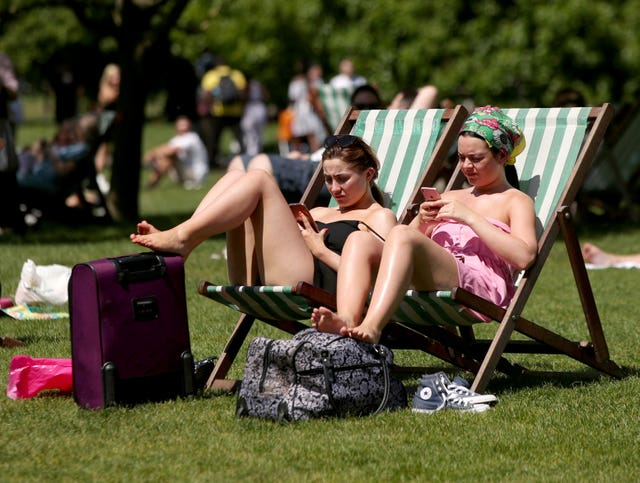 Britons enjoyed the hottest early bank holiday weekend on record earlier this month (Yui Mok/PA)