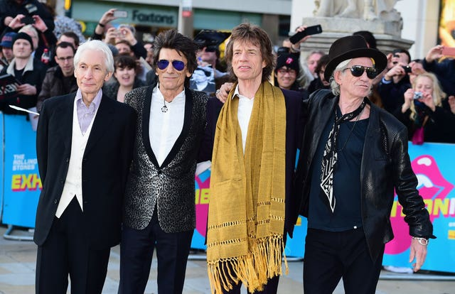 Charlie Watts, Ronnie Wood, Mick Jagger and Keith Richards of The Rolling Stones.