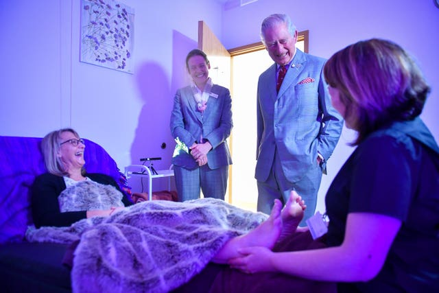 Charles visits hospice