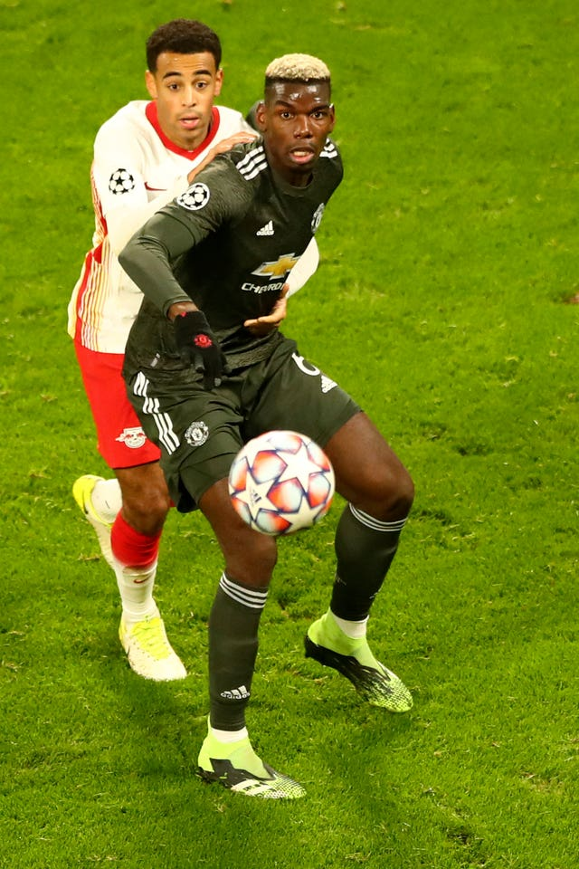 Pogba (right) came off the bench a day after his agent said he was unhappy at Old Trafford