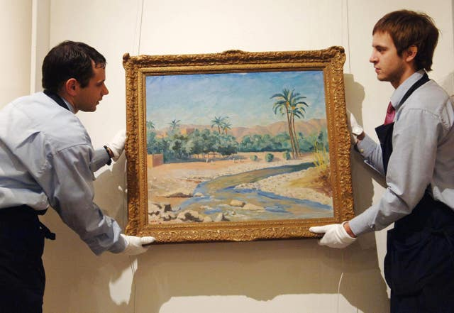 Churchill painting set to fetch £250k