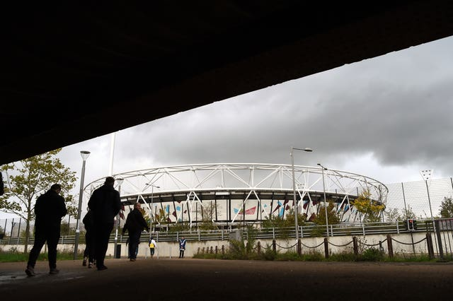 Clouds appear to be forming over the London Stadium