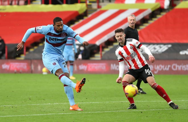 Sebastien Haller scored West Ham's winner at Sheffield United