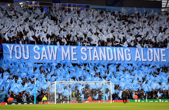 Manchester City fans have yet to fully embrace the Champions League
