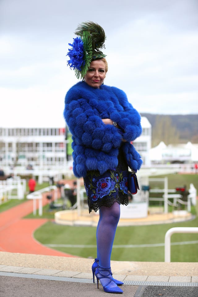 Viv Jenna during Ladies Day of the 2019 Cheltenham Festival at Cheltenham Racecourse.