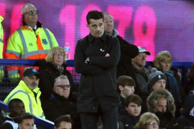 Everton manger Marco Silva