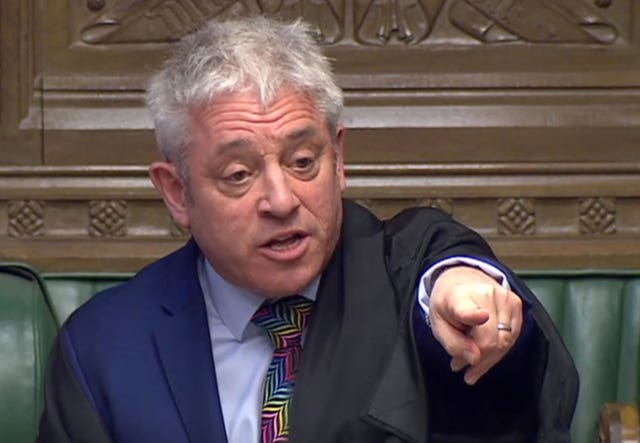 Commons Speaker John Bercow