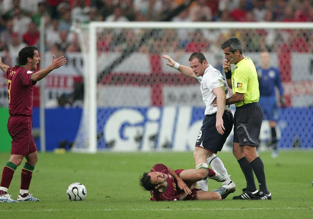 Rooney was sent off in the quarter-finals