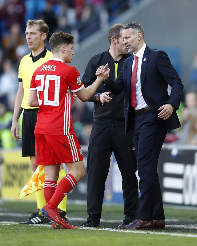Ryan Giggs gave Daniel James his Wales debut
