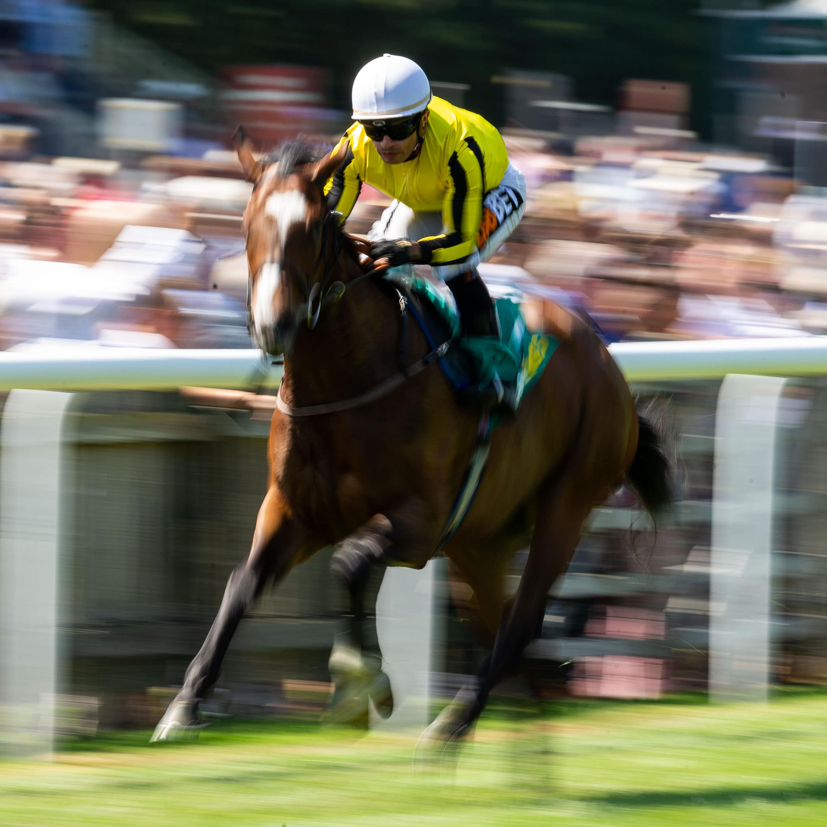Pretty Pollyanna romps clear in the Duchess of Cambridge Stakes at Newmarket