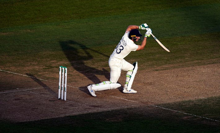 Australia captain Tim Paine made the questionable decision to bowl first in the final Test at The Oval and Jos Buttler (pictured) made a rapid 70 to post a strong England total