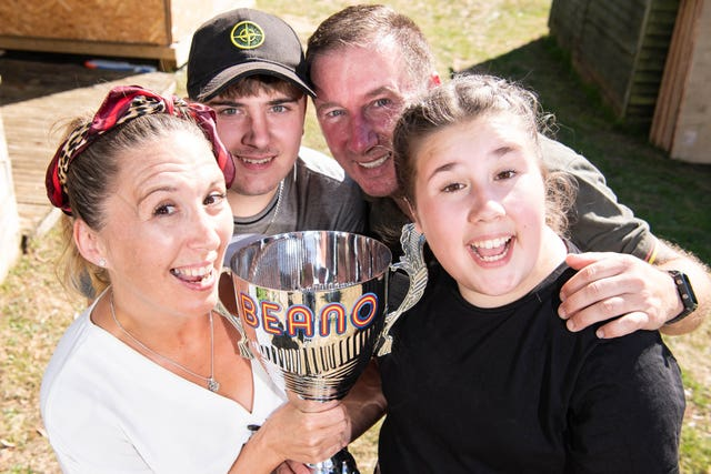 The Millers from Ipswich have been crowned the winners of Beano's 'Britain�s Funniest Family' competition and are set to feature as characters in the comic alongside Beano legends Dennis and Gnasher