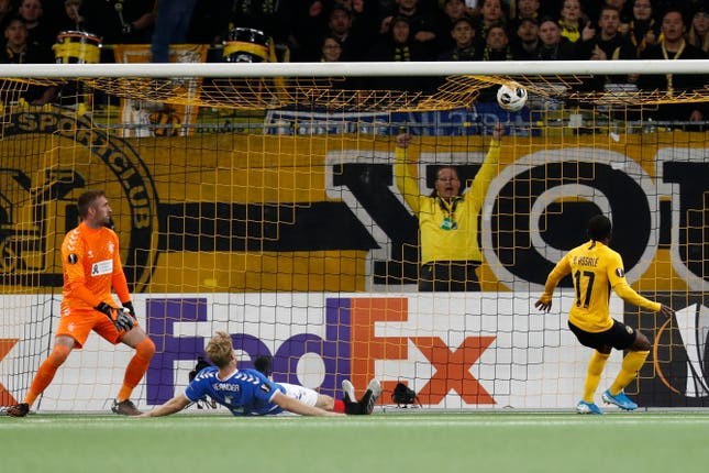 Roger Assale scored the equaliser for young Boys against Rangers