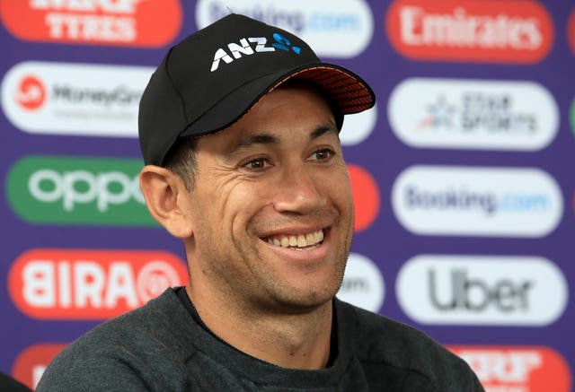 Ross Taylor, pictured, and Sir Alastair Cook made their first international appearances on the same day (Owen Humphreys/PA)