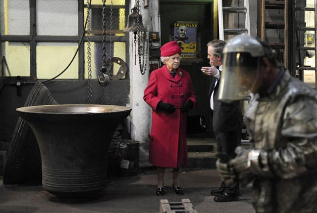 Queen visits east London