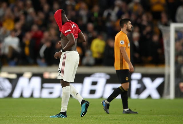 Paul Pogba showed his disappointment at full-time