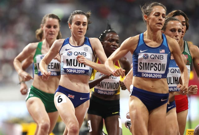 Muir came fifth in the 1500m final at last year's World Championships in Doha (Martin Rickett/PA).