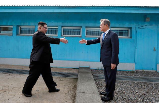 Trump Kim DMZ