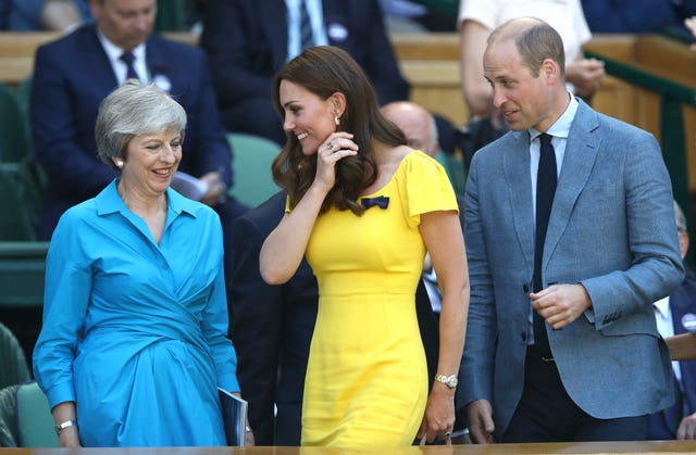 William, Kate and Theresa May