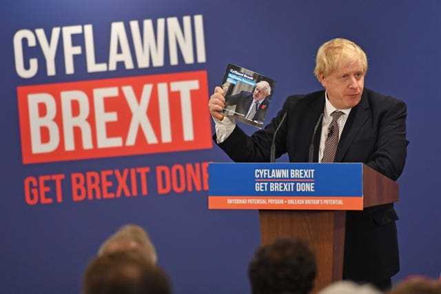 Boris Johnson later launched the Conservative Party Welsh manifesto in Wrexham