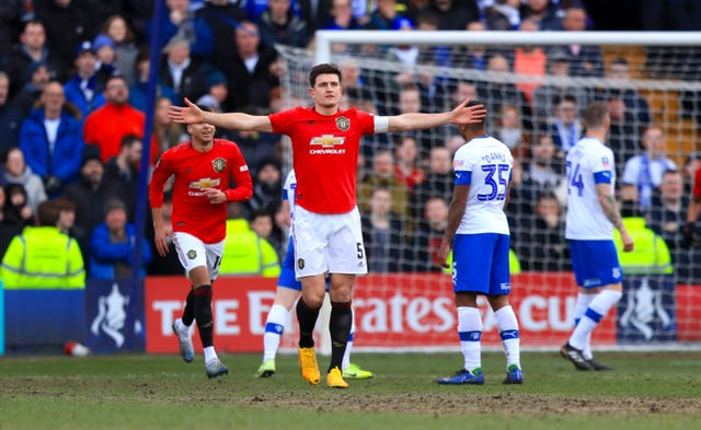 Manchester United captain Harry Maguire scored the first goal of the 6-0 win at Tranmere.