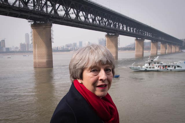 Theresa May visit to China - Day One