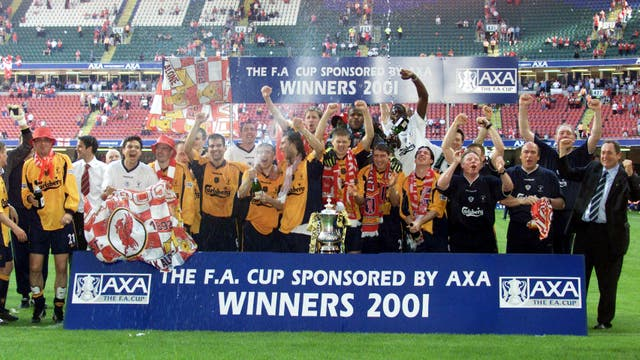 Liverpool won three cup competitions in 2000/01