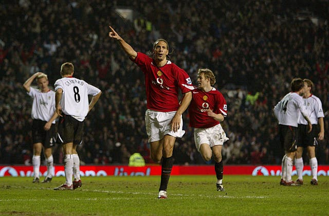 Rio Ferdinand headed in a last-minute winner against Liverpool in January 2006.