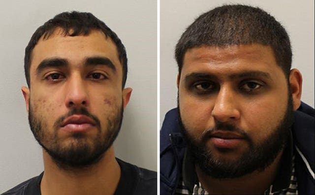 Adam Khalil (left) and Haroon Akram pleaded guilty to Tudor Simionov's manslaughter on the second day of their trial at the Old Bailey (Met Police/PA)