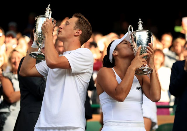 Heather Watson and Henri Kontinen won the mixed doubles at Wimbledon in 2016
