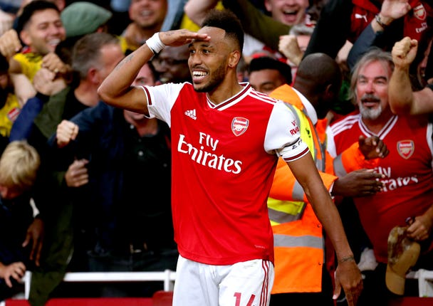 Aubameyang notched the winner for Arsenal