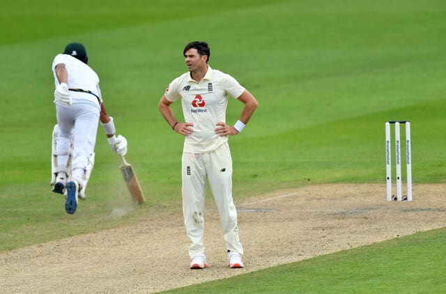 James Anderson struggled at Old Trafford