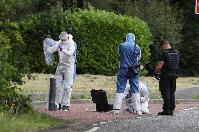 Investigators in Tullygally Road