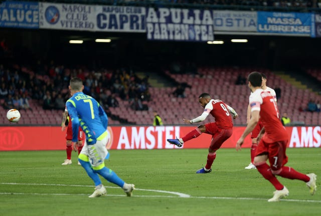 Alexandre Lacazette's free-kick sealed a victory for the Gunners in Naples.