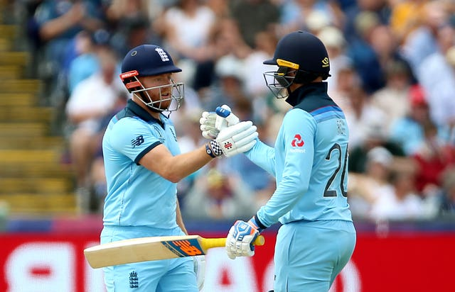 Jason Roy (right) and Jonny Bairstow impressed again for England