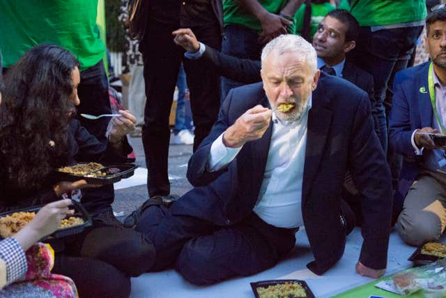 Leader of the Labour Party Jeremy Corbyn joins supporters to celebrate community spirit one year after the Finsbury Park terror attack