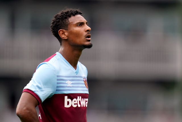 West Ham striker Sebastien Haller joined from Eintracht Frankfurt in the summer