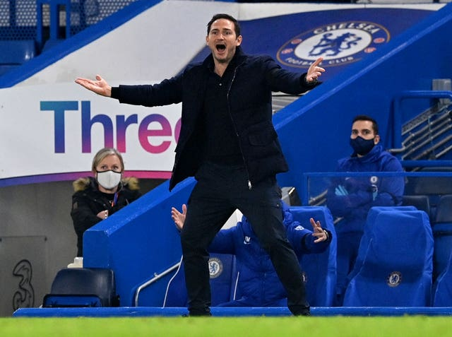 Frank Lampard cut a frustrated figure on the touchline
