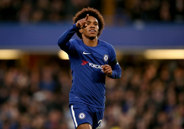 Willian scored Chelsea's goal in the first leg