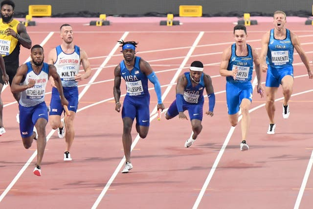 GB's men (left) won their semi-final in style